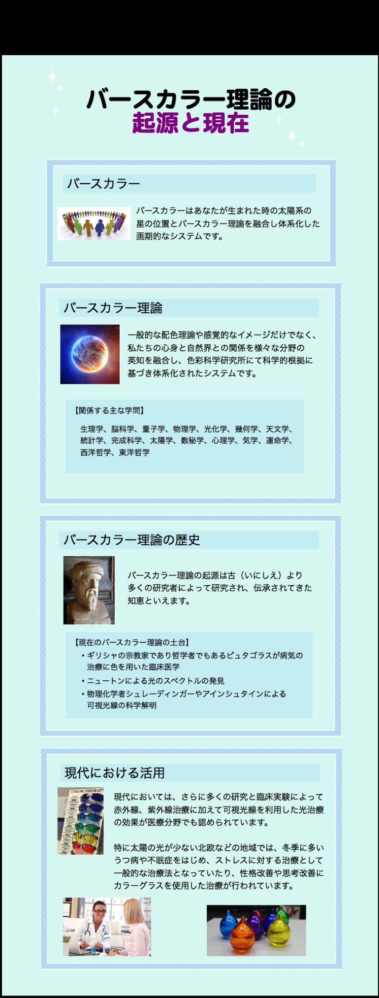 バースカラー理論の起源と現在(修正版)